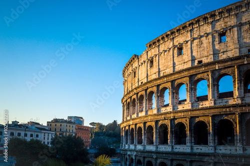 Colosseum in Rome in Rome Canvas Print