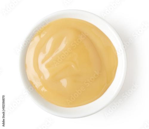Bowl of vanilla custard Wallpaper Mural