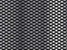 Metal Grid. Silver Background With Holes. Vector Illustration