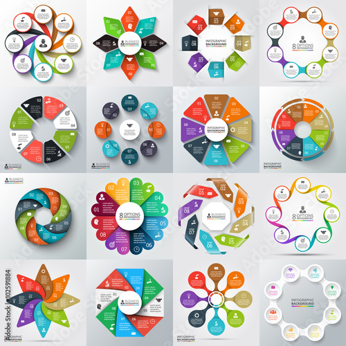 Vector circle element for infographic. Wall mural