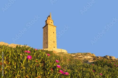 Hercules tower, Torre de Hercules, roman lighthouse , UNESCO world heritage