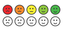 Emoji Icons For Rate Of Satisf...
