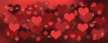 Schwebende Herzen Hintergrund ...