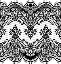 Seamless Lace Pattern, Flower ...