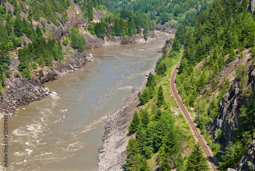 Canvas Print Thomson River and Pacific Canadian Railway.