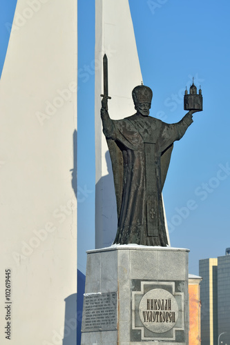 Poster Monument Monument to St Nicholas Wonderworker. Kaliningrad, Russia