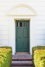 Narrow Front Green Door