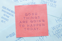 Sticky Note With Good Things A...