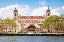 Exterior View Of Historic Ellis Island Immigrant Museum