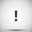 Flat black Exclamation Mark icon