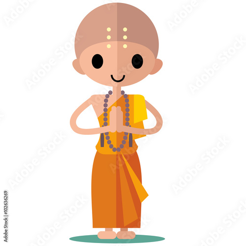 Fotografie, Obraz  Buddhist monk