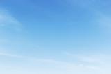 Fototapeta Na sufit - Fantastic soft white clouds against blue sky background, soft fo