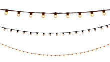String Wired Bulbs On White Ba...