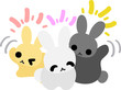 Three pretty rabbits