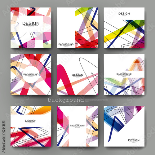 abstract background vector brochure template. Flyer Layout Poster