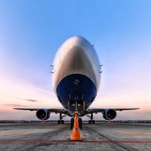 Passenger Plane In The Parking Lot, Aiport Parking, Passenger Pl