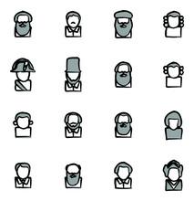 Avatar Icons Historical Figure...