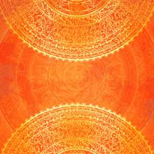 Vintage Orange Lace Background...
