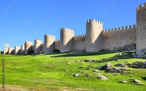 City walls of Avila