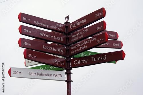 wrocław - tablica turystyczna