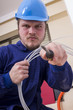 Handsome electrician guy