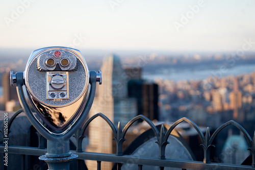Tuinposter New York Observation Deck binoculars