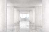 Fototapeta Fototapety przestrzenne i panoramiczne - Loft style tunnel with many walls in light empty building with b