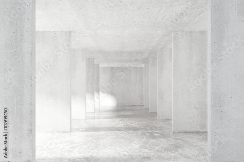 loft-stylowy-tunel-z-wiele-scianami-w-swiatlo-pustym-budynku