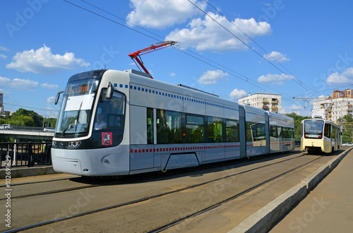 Fényképezés Новый трамвай в Москве