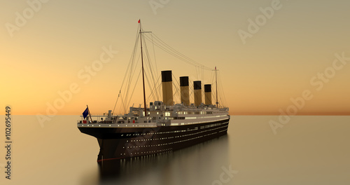 Titanic Sundown 4K Shot 2 Wallpaper Mural
