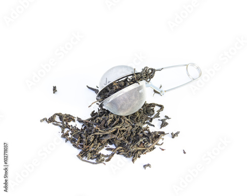 Valokuvatapetti Dry black tea strainer infuser