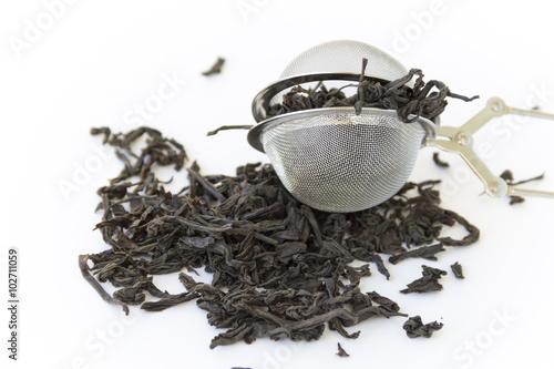 Fotografia, Obraz  Dry black tea strainer infuser