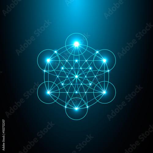 Fotografie, Obraz  Sacred Geometry. Vector Illustration