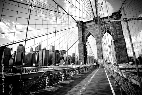In de dag Brooklyn Bridge Brooklyn bridge, New York City. USA.