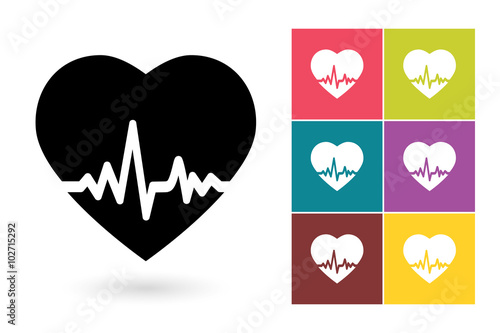 Heartbeat Icon Or Heartbeat Drawing Symbol Heartbeat Vector Element