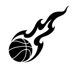 Fototapeta Koszykówka graphic basketball and fire, vector