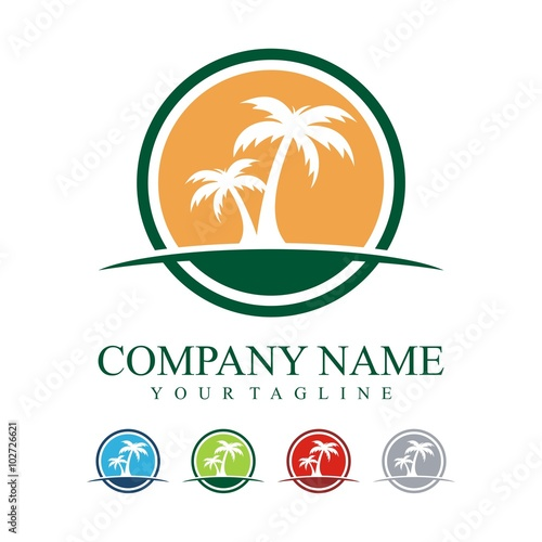 palm tree logo circle palm design logo vector buy this stock rh stock adobe com palm tree pattern free vector palm tree pattern free vector