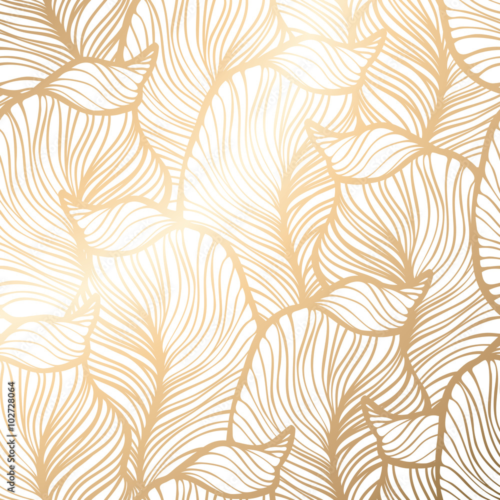 Fototapety, obrazy: Damask seamless floral pattern. Royal wallpaper.