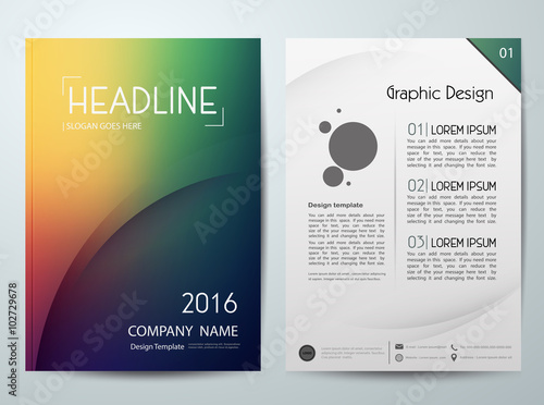 Abstract vector,modern flyers brochure,cover,annual report,design templates,layo Tableau sur Toile