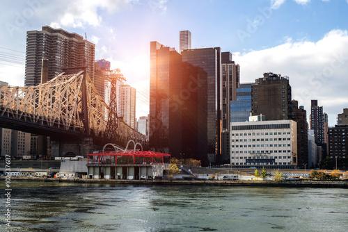 NewYork City panorama with Manhattan Skyline on cloudy day