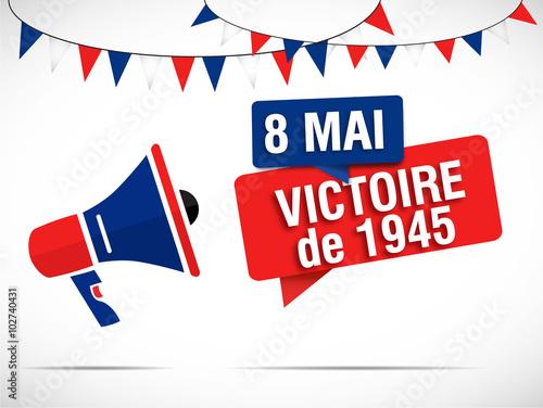 Photo  mégaphone : 8 mai victoire de 1945