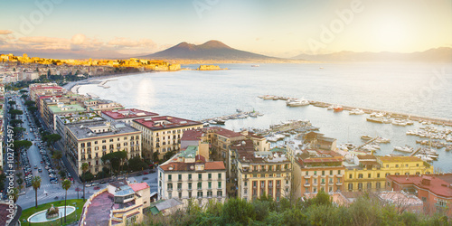 Foto op Aluminium Napels landscape of Naples in the morning