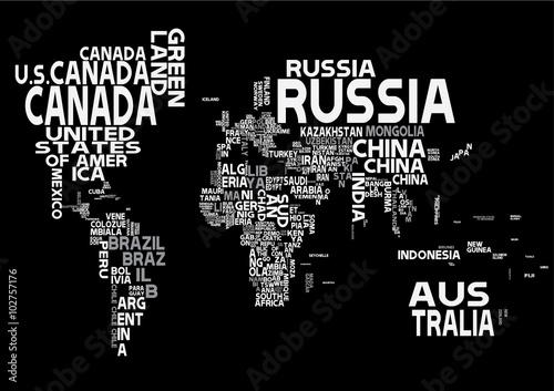 Naklejka Mapa