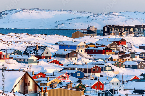 Photo Stands Arctic Nuuk landscape