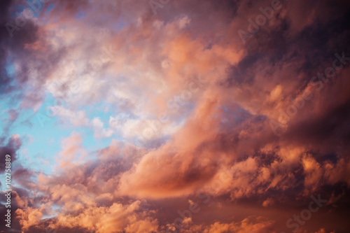 Canvas Prints Heaven beautiful clouds at sunset