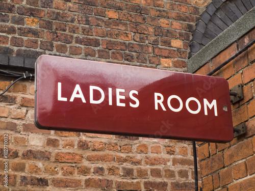 British Railways era (mid 20th century) railway station ladies room