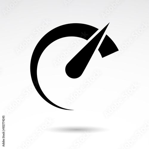 Fotografie, Obraz  Speed vector icon.