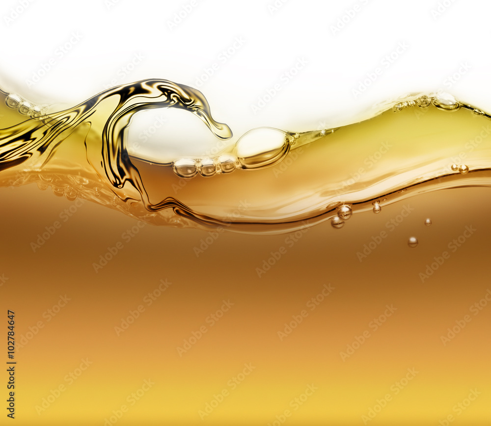 Fototapeta wave of oil with air bubbles
