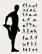 Stretching  Silhouettes, Art V...