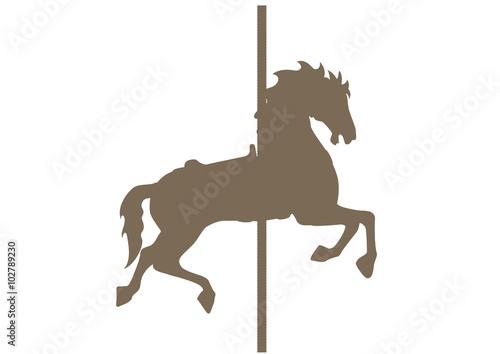 Valokuva  イラスト素材「メリーゴーランドの馬」